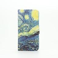 Для Кейс для  Samsung Galaxy Флип / С узором / Магнитный Кейс для Чехол Кейс для Панорама города Искусственная кожа SamsungA5(2016) /
