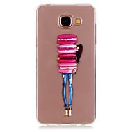 Недорогие Чехлы и кейсы для Galaxy A5(2016)-Кейс для Назначение SSamsung Galaxy Кейс для  Samsung Galaxy Прозрачный / С узором Кейс на заднюю панель Соблазнительная девушка ТПУ для A5(2016) / A3(2016)