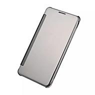 Недорогие Чехлы и кейсы для Galaxy A9(2016)-Кейс для Назначение SSamsung Galaxy Кейс для  Samsung Galaxy Покрытие Зеркальная поверхность Флип Чехол Сплошной цвет ПК для A9(2016)