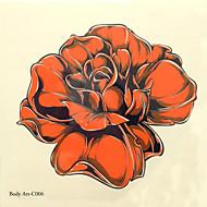 1db halloween tetoválás paszta színe tetoválás matrica nagyobb méretben vízálló virágok