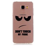 Недорогие Чехлы и кейсы для Galaxy A3(2016)-Кейс для Назначение SSamsung Galaxy Кейс для  Samsung Galaxy Прозрачный С узором Кейс на заднюю панель Слова / выражения ТПУ для A5(2016)