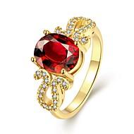 Женский Классические кольца Мода Elegant Синтетические драгоценные камни Позолота Овальной формы Бижутерия Назначение Свадьба Для
