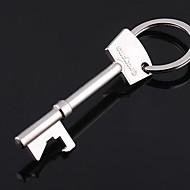 rozsdamentes acél kulcs nyitó kulcs forma lánc gyűrű kulcstartó