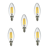 2.5W E14 LED Filament Bulbs CA35 4 High Power LED 250lm Warm White Cold White 3000K/6500K Decorative AC 220-240V
