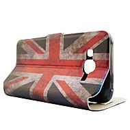Для Кейс для  Samsung Galaxy Бумажник для карт / Кошелек / со стендом / Флип Кейс для Чехол Кейс для Флаг Искусственная кожа Samsung J5