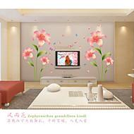 povoljno -Romantika Moda Cvjetnih Zid Naljepnice Zidne naljepnice Dekorativne zidne naljepnice, PVC Početna Dekoracija Zid preslikača Zid