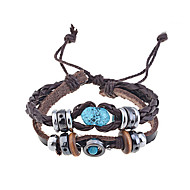 cheap -Men's Leather Others Leather Bracelet Wrap Bracelet - Unique Design Handmade Fashion Coffee Bracelet For Christmas Gifts Party Daily