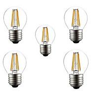 abordables HRY®-5pcs 400LM lm E26/E27 Bombillas de Filamento LED G45 4 leds LED de Alta Potencia Decorativa Blanco Cálido Blanco Fresco AC 220-240V