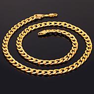halpa -Naisten Circle Shape Muoto Muoti Kaulaketjut Gold Plated Kaulaketjut Joululahjat Häät Party Erikoistilaisuus Syntymäpäivä Lahja