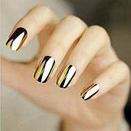 48pcs autocolant manichiura aur, argint decal black metal lipirea