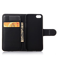 用途 iPhone 8 iPhone 8 Plus iPhone 6 iPhone 6 Plus ケース カバー ウォレット カードホルダー スタンド付き フリップ フルボディー ケース 純色 ハード 本革 のために iPhone 8 Plus iPhone 8
