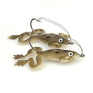 お買い得  釣り用アクセサリー-4 個 ルアー カエル ソフトプラスチック 海釣り スピニング 川釣り 一般的な釣り ルアー釣り バス釣り