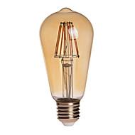 preiswerte -7W E26/E27 LED Kugelbirnen ST64 8 Leds COB Wasserfest Dekorativ Warmes Weiß 750lm 2200K AC 85-265V