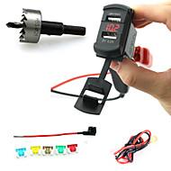 Недорогие Автомобильные зарядные устройства-iztoss двойной USB стиль зарядное гнездо штекер коромысла с вольтметра красный светодиод и провода держатель предохранителя и твист drilli
