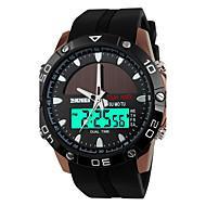 SKMEI Мужской Спортивные часы электронные часы Кварцевый Цифровой Японский кварцLCD Календарь Защита от влаги С двумя часовыми поясами