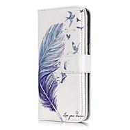 Недорогие Чехлы и кейсы для Galaxy S7-Кейс для Назначение SSamsung Galaxy Samsung Galaxy S7 Edge Кошелек / Бумажник для карт / со стендом  Перья для S7 edge / S7 / S6 edge