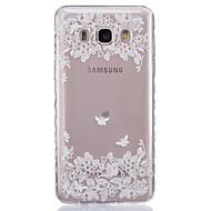 Недорогие Чехлы и кейсы для Galaxy J-Кейс для Назначение SSamsung Galaxy Кейс для  Samsung Galaxy Прозрачный Кейс на заднюю панель Цветы Мягкий ТПУ для J7 J5 (2016) J5 J3 J2