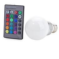 E26/E27 LED-älyvalot T 1 COB 100-200 lm RGB Kauko-ohjattava Koristeltu AC 85-265 V 1 kpl