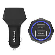 poweriq 24W intelligens 3-Port USB autós töltő 5V 4.8a pont az iPhone / iPad / Samsung / Huawei