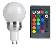 お買い得  LED ボール型電球-100-200 lm GU10 LEDボール型電球 A50 1 LEDビーズ ハイパワーLED リモコン操作 RGB 85-265 V / 1個