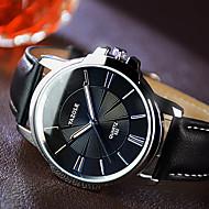 Χαμηλού Κόστους Επώνυμα ρολόγια-YAZOLE Ανδρικά Ρολόι Φορέματος Χαλαζίας Καθημερινό Ρολόι Νυχτερινή λάμψη Δέρμα Μπάντα Μαύρο Καφέ