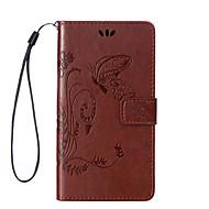 Voor Sony hoesje / Xperia Z5 Kaarthouder / met standaard / Patroon hoesje Volledige behuizing hoesje Effen kleur Zacht PU-leer voor Sony