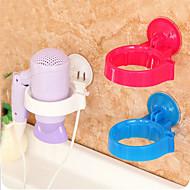 baratos -prateleira de parede titular estande secador de cabelo montado prateleira (cor aleatória)