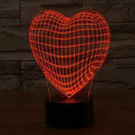 3d aşk kalp şekli romantik tatil renkli gece lambası gece lambası renk değiştiren lamba led