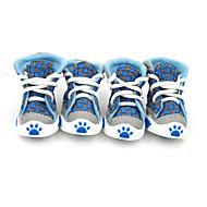 Недорогие Бижутерия и аксессуары для собак-Собака Ботинки и сапоги Оранжевый Красный Зеленый Синий Для домашних животных