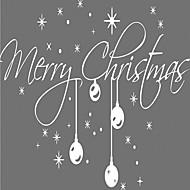 クリスマス / 文字 / ホリデー ウォールステッカー プレーン・ウォールステッカー 飾りウォールステッカー,vinyl 材料 取り外し可 / 再利用可 ホームデコレーション ウォールステッカー・壁用シール