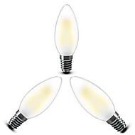 voordelige LED-kooldraadlampen-e14 led gloeilampen c35 4 cob 400lm warm wit 2800-3200k dimbaar ac 220-240v