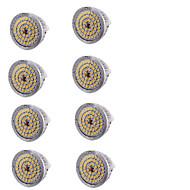 お買い得  LED スポットライト-7W GU5.3(MR16) LEDスポットライト MR16 48 SMD 2835 600 lm 温白色 装飾用 DC 12 V 8枚