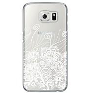Для Samsung Galaxy S7 Edge Прозрачный / С узором Кейс для Задняя крышка Кейс для Цветы Мягкий TPU SamsungS7 edge / S7 / S6 edge plus / S6