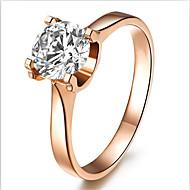 Ringe Modisch / Geburtssteine Hochzeit Schmuck Sterling Silber / Strass Damen Bandringe 1 Stück,5 / 6 / 7 / 8 / 9 / 8½ / 9½ / 4 Rotgold