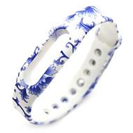 Недорогие Ремешки для часов Xiaomi-Wristband запасные браслет ремешок части для миль полосы (синий и белый)