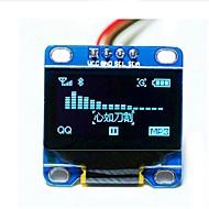 お買い得  Arduino 用アクセサリー-0.96「青のi2c IICシリアル128×64 OLED LCDはarduinoの51 msp420 stim32 SCR用ディスプレイモジュールを率いインチ