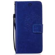 Na Samsung Galaxy Note Etui na karty / Portfel / Z podpórką / Flip / Wytłaczany wzór Kılıf Futerał Kılıf Dmuchawiec Miękkie Skóra PU