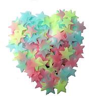 お買い得  おもちゃ & ホビーアクセサリー-LED照明 星形 プラスチック おもちゃ ギフト 100 pcs