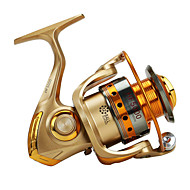 お買い得  釣り用アクセサリー-スピニングリール 5.2/1 ギア比+12 ボールベアリング 手の向き 交換可能 ベイトキャスティング / 一般的な釣り - HF6000