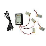 Syma X5C/X5C-1 Explorers Parts X5C-11 3.7V 650mAh Lipo Battery 3 in 1 Cable Line x 5pcs w/ B3 Charger