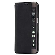 Недорогие Чехлы и кейсы для Galaxy А-Для Кейс для  Samsung Galaxy со стендом / с окошком / С функцией автовывода из режима сна / Флип / Ультратонкий Кейс для Чехол Кейс для
