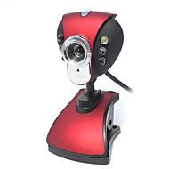 abordables Webcams-USB 2.0 CMOS HD 720p cámara web de 2 millones de 1024x768 30fps con micrófono