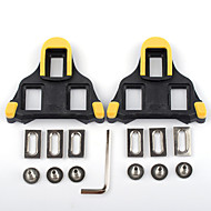 cheap Sports & Outdoors Accessories-Cleat / Cleat Set / XPT / SPD 6 Degree Float Non-Skid, Compatible With SHIMANO, Durable Road Bike Synthetic Yellow / Black / Yellow / Red - 2 pcs
