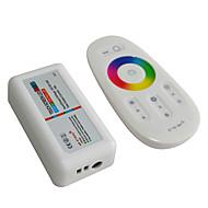 halpa RGB-ohjaimet-Jiawen 2.4G langaton RGB LED-ohjain kosketusnäyttö RGB LED ohjausjärjestelmä (dc 12-24V)