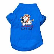 halpa -Kissa Koira T-paita Koiran vaatteet Eläin Sininen Puuvilla Asu Lemmikit Miesten Naisten Muoti