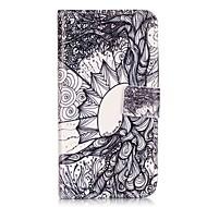 Для Кейс для  Samsung Galaxy Бумажник для карт / Кошелек / со стендом / Флип Кейс для Чехол Кейс для Плитка Мягкий Искусственная кожа