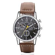 SOXY Herren Modeuhr Quartz Armbanduhren für den Alltag Leder Band Braun Braun