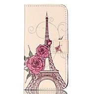Для Samsung Galaxy S7 Edge Бумажник для карт / Кошелек / со стендом / Флип / С узором Кейс для Чехол Кейс для Эйфелева башня Мягкий