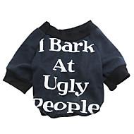 halpa -Kissa Koira T-paita Koiran vaatteet Kukat / Kasvit Musta Punainen Puuvilla Asu Lemmikit Miesten Naisten Muoti