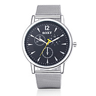 SOXY Herrn Modeuhr Quartz Armbanduhren für den Alltag Edelstahl Band Silber